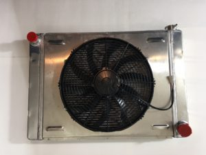 Radiator with electric fan and shroud